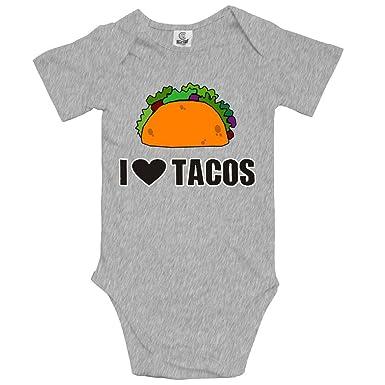 a5702c930c17 Amazon.com  I Love Tacos Infant Bodysuit Humor Onesies Short Sleeve ...