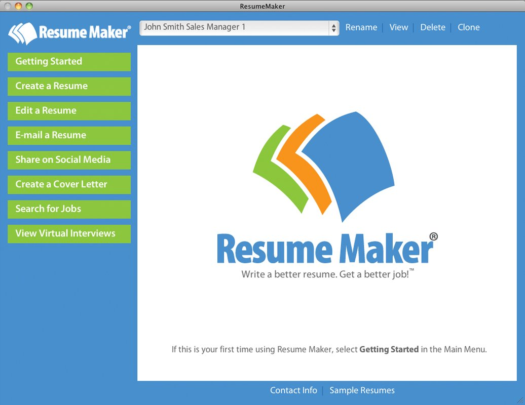 Resume Maker for Mac [Mac Download] by Individual Software