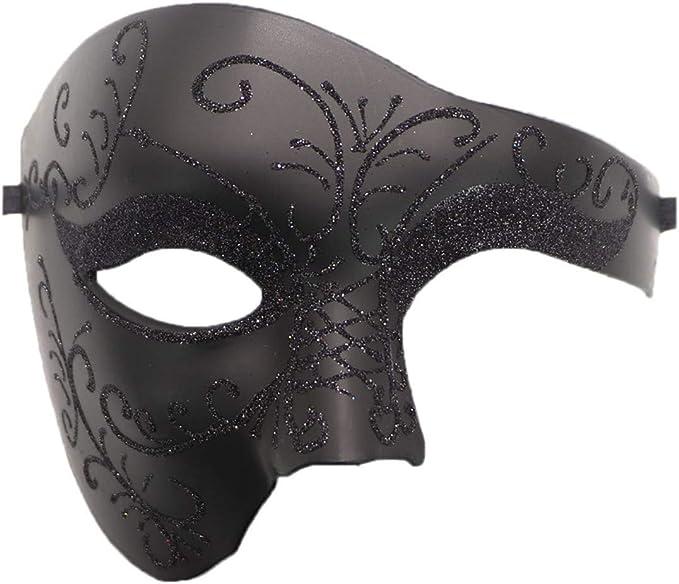 Off White Wedding Masquerade Mask Men Women Halloween Costume Prom Party Phantom