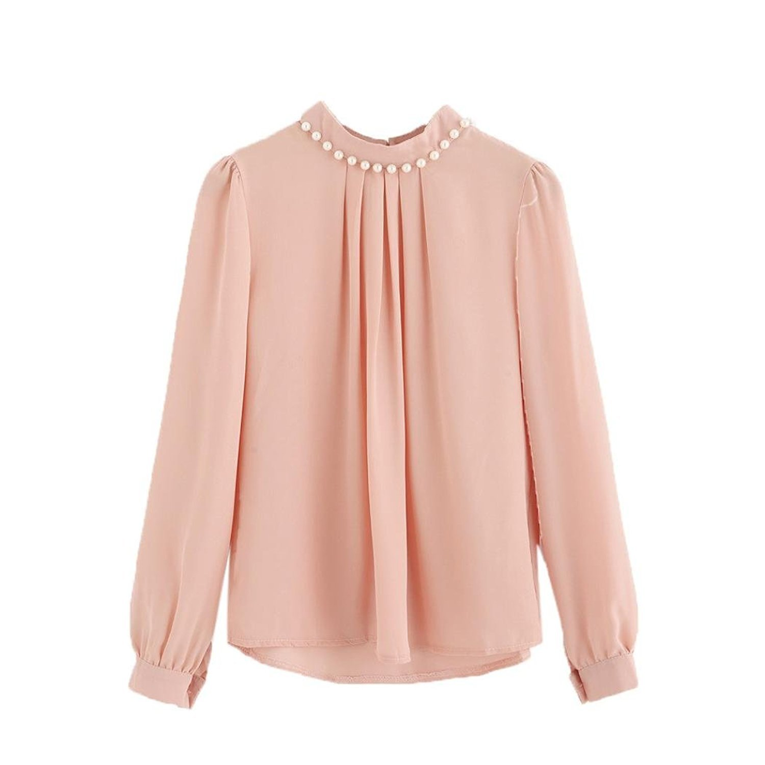 Autumn& Winter Clothing, Fulltime(TM) Pearl Chiffon Blouse Work Office Shirts XYM70927902