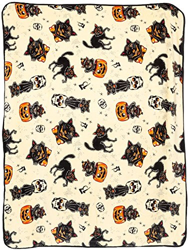 Halloween Fleece - Sourpuss Black Cats Blanket