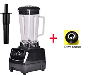 3Hp 2200W 2L Heavy Duty Commercial Professional Smoothie Blender Mixer Juicer Food Processor,Black Extra Driver,Uk Plug