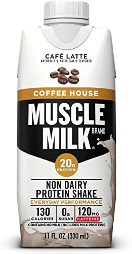 Muscle Milk Coffee House Protein Shake, Caf Latte, 11 FL OZ, 12 Count