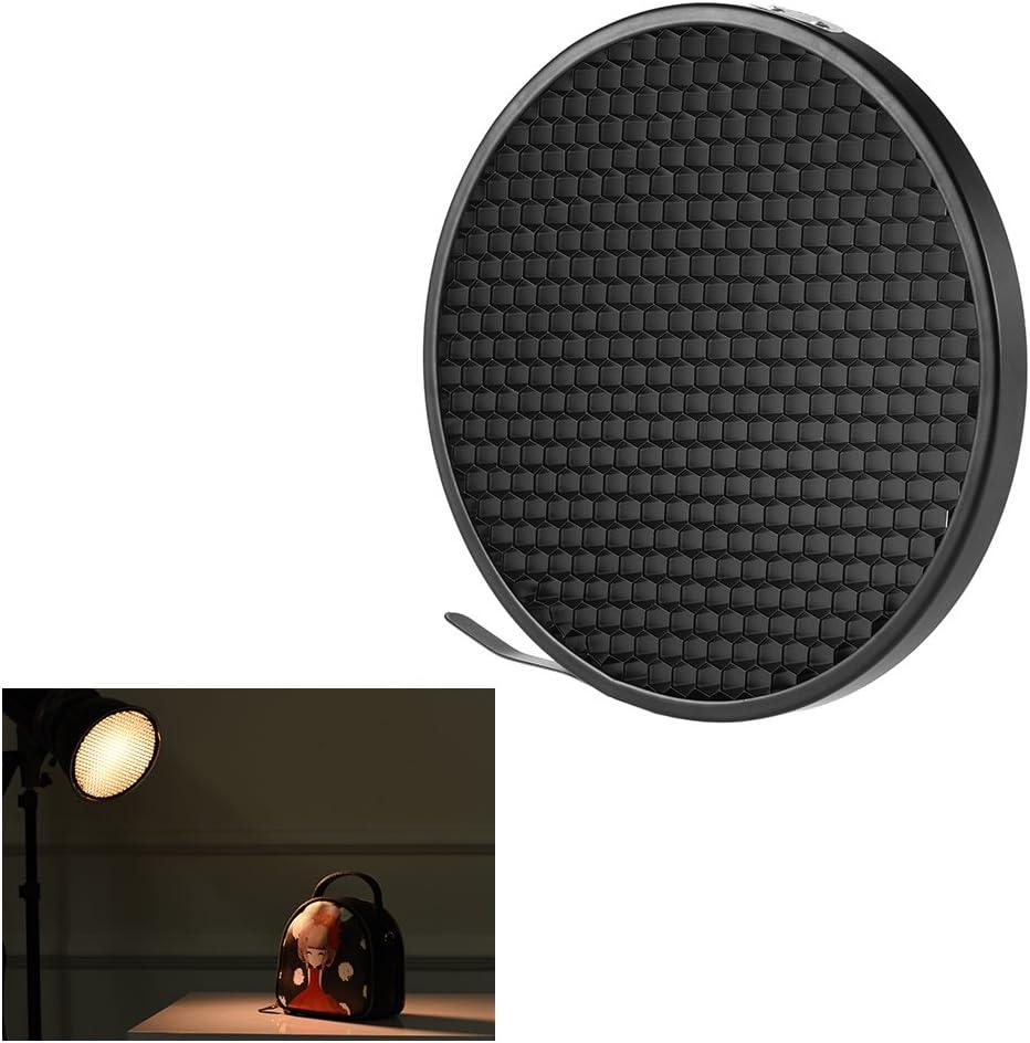 "Andoer 16.8cm 60 Degree Honeycomb Grid Photo Studio for 7"" Standard Reflector Diffuser Lamp Shade Dish"