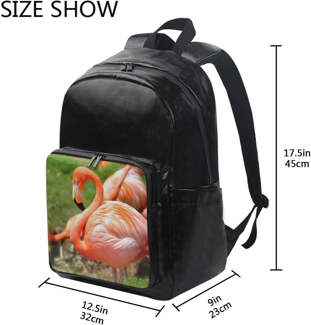 Student Backpacks College School Book Bag Travel Hiking Camping Daypack for boy for Girl Red Flamingo 12.5x9x17.5 Holds 12.5-inch Laptop
