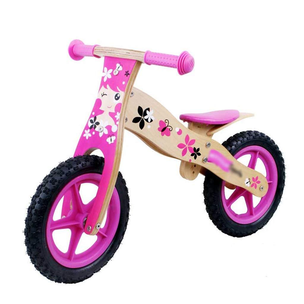 DUWEN Kind-Balance-Fahrrad hölzern kein Pedal Zwei Runden 2-7 jährigen Roller