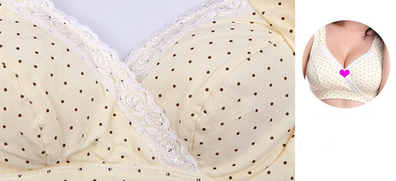 Aivtalk Womens Cotton Soft Cup Wireless Nursing Maternity Bra