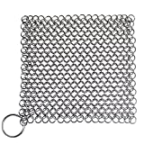 Blisstime Cast Iron Cleaner XL 7x7 Premium Stainless Steel Chainmail Scrubber