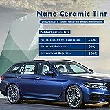 HOHO 50cmx1000cm 65%VLT Shade Automotive Window Tint High Insulation 100% UV Proof Nano Ceramic Tinting Film for Car Bulk
