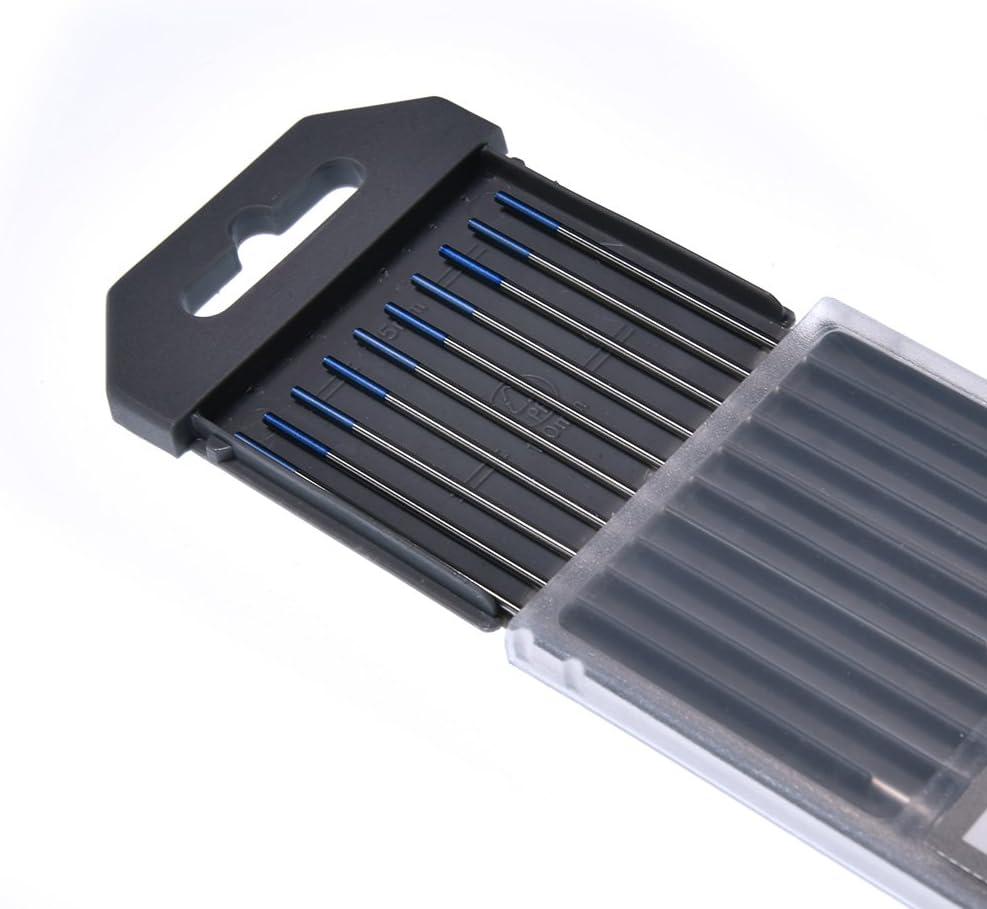 Blue, WL2016 HLRM TIG Welding Tungsten Electrode 2/% Lanthanated Tungsten 1//16 x 7 10 Pcs