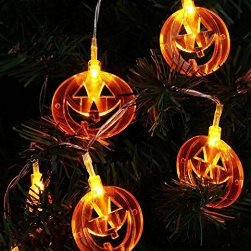 Women Costumes Thirteenth Fairy The For (Coohole Halloween 20LED Round Pumpkin Shape String Light Decoration Home Party Decor)
