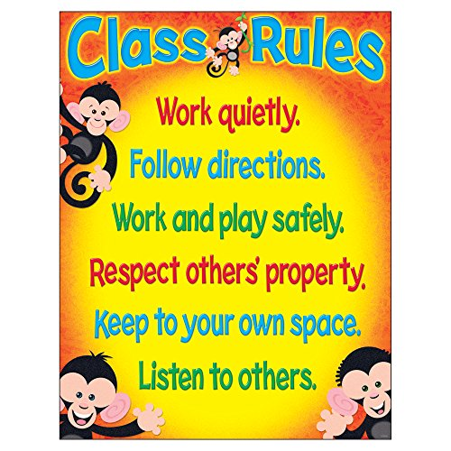 TREND enterprises, Inc. Class Rules Monkey Mischief Learning Chart, 17