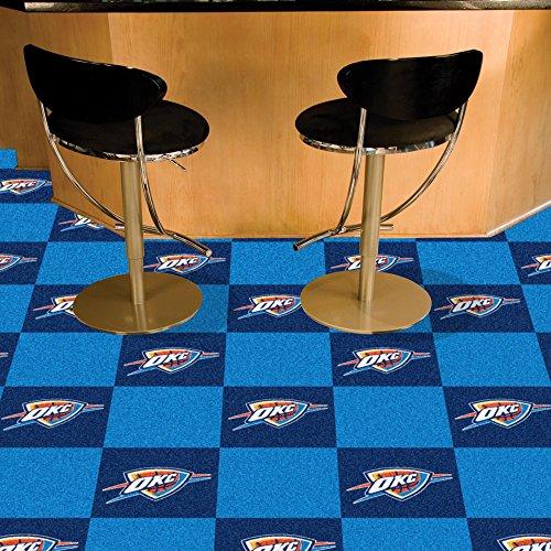 FANMATS NBA Oklahoma City Thunder Nylon Face Team Carpet Tiles