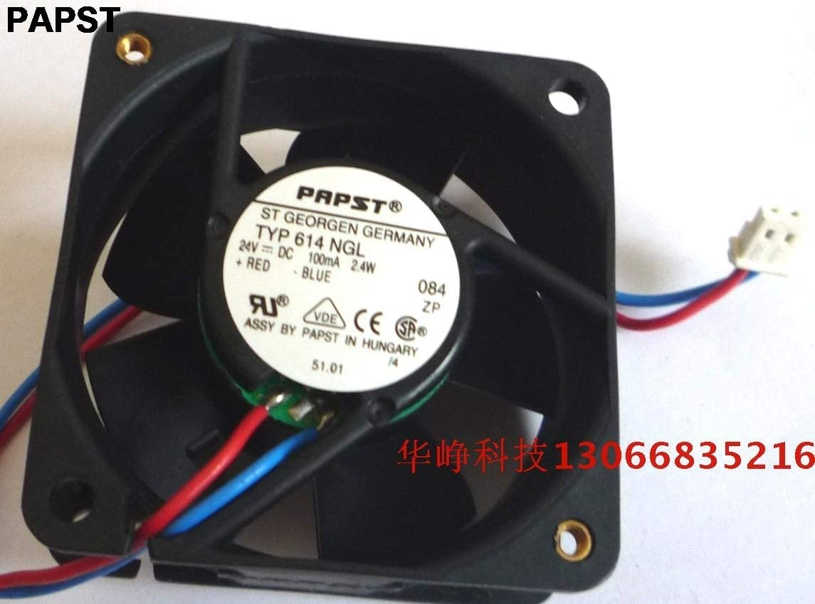 For PAPST TYP 614 NGL 6025 24v 2.4w 6cm cooling fan
