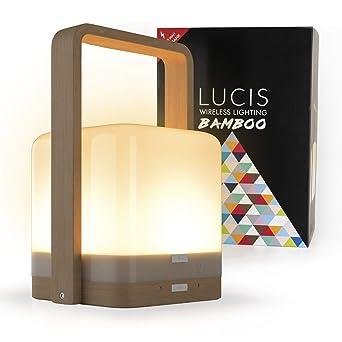 Lucis Bamboo • Lámpara inalámbrica recargable • Lámpara ...