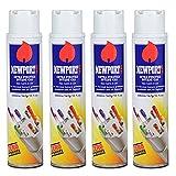 4 cans of Newport 300ml Ultra Purified Butane Fuel Zero Impurities