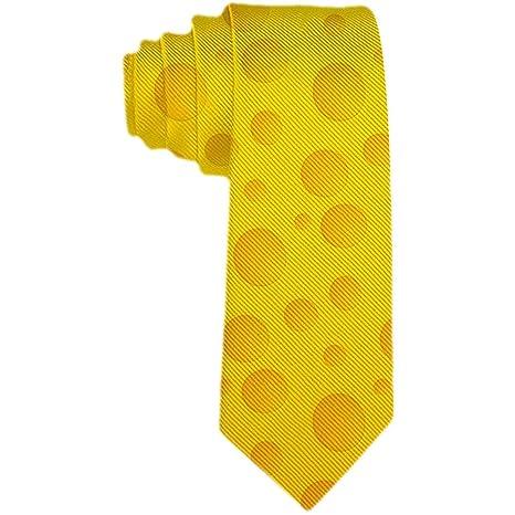 Corbata Delgada Para Hombre Con Estampado Clásico De Queso ...