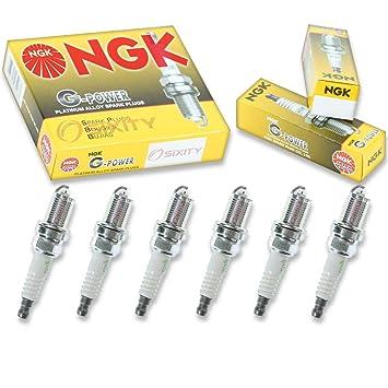 NGK G-POWER 6pcs Bujías Volkswagen Passat 98 - 05 2.8L V6 Kit Set Tune Up: Amazon.es: Coche y moto
