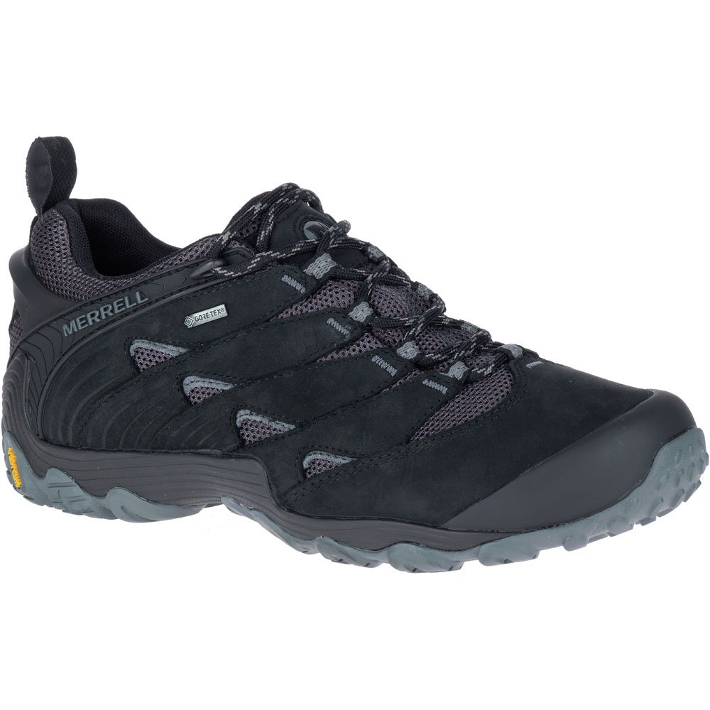 Merrell Mens Chameleon 7 GTX Waterproof Walking Hiking Shoes  UK Size 7 (EU 41, US 7.5)|Black
