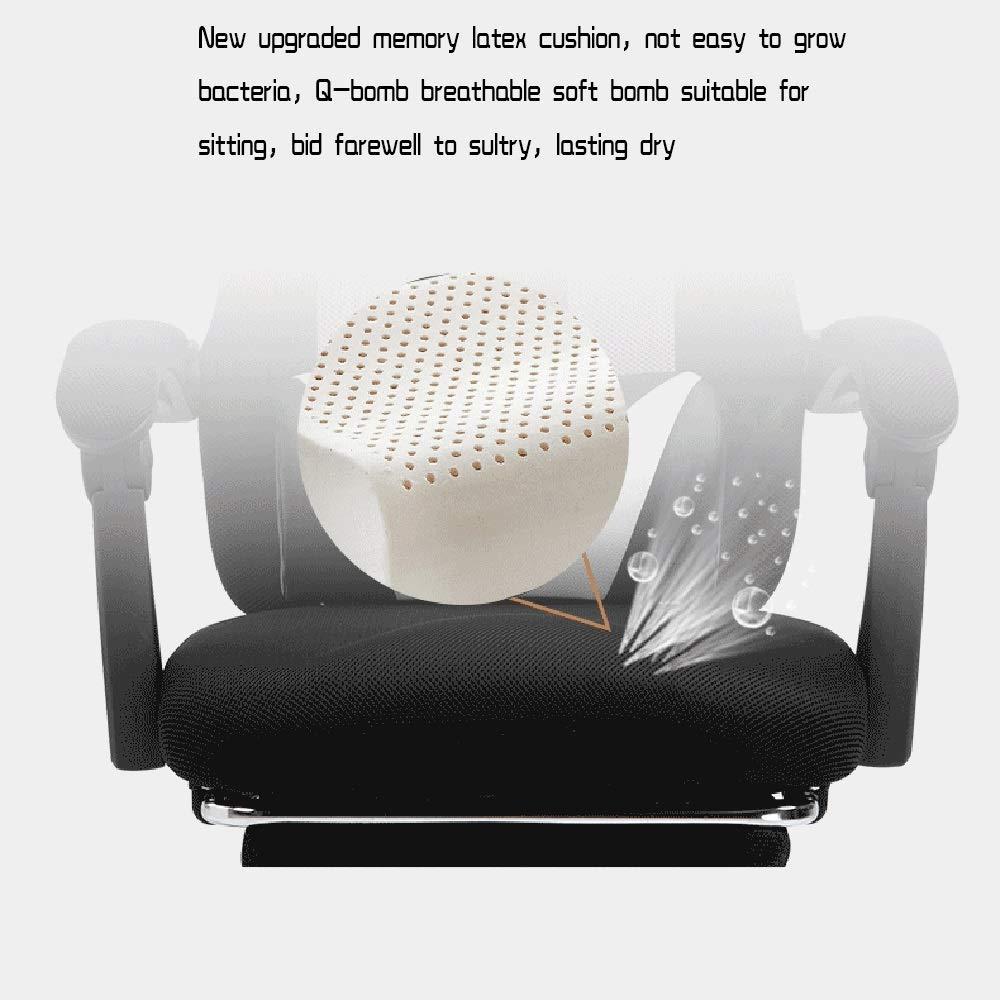 Dalovy bekväm vilande ergonomisk stol, hög rygg kontorsstol skrivbordsstol inbyggd latexkudde justerbar höjd med nackstöd och ryggstöd Röd