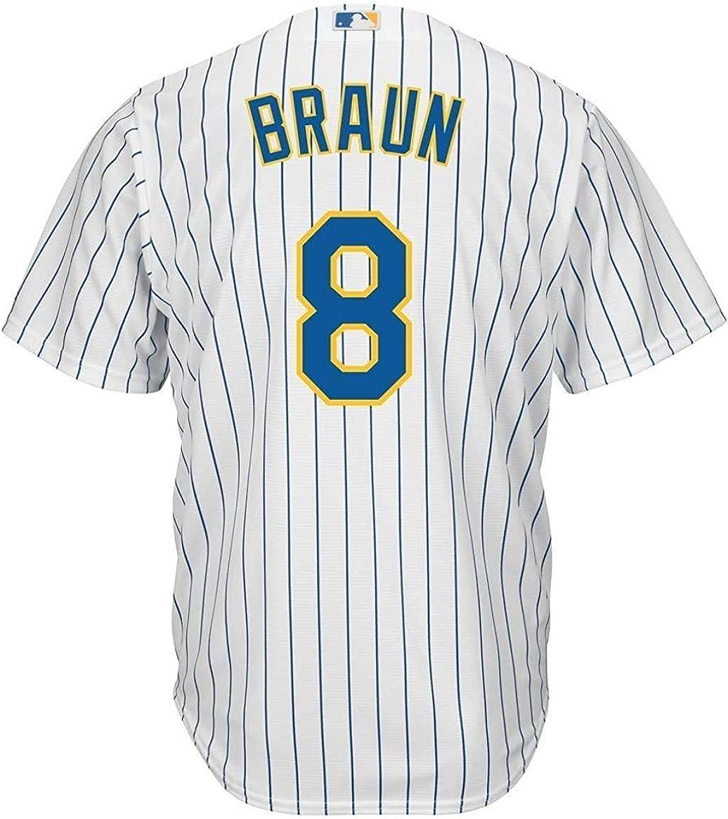 Ryan Braun Milwaukee Brewers White Youth 8-20 Cool Base Alternate Jersey