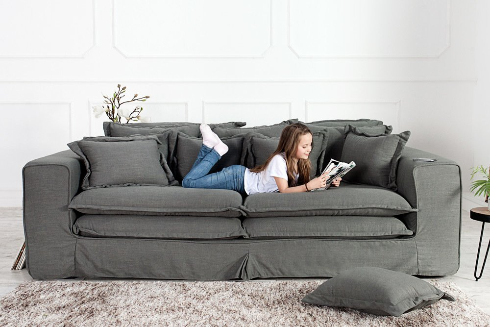 hussen sofa amazing xxxl hussensofa cloud grau oliv. Black Bedroom Furniture Sets. Home Design Ideas
