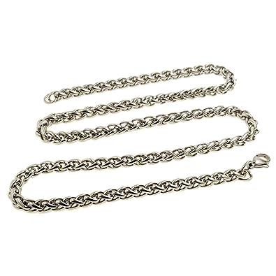OUTLETISSIMO® Collar Cadena de Acero Inoxidable Unisex para ...