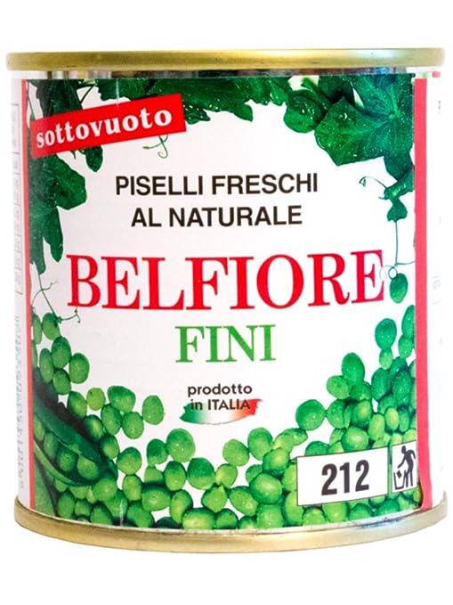 3 opinioni per Belfiore Piselli Fini Inscatolati Freschi, Italiani- 6 pezzi da 160 g [960 g]