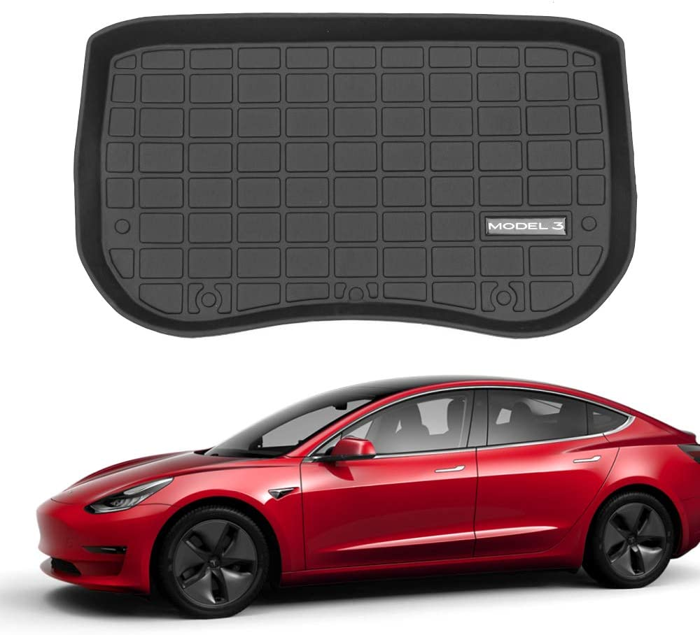 Fit Tesla Model 3 Frunk Mat Front Trunk Mats Cargo Liner All Weather Tesla Model 3 Accessories