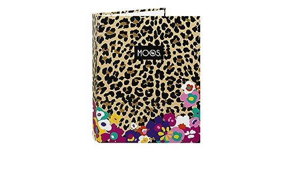 MOOS Carpeta folio con 4 anillas, diseño Animal-Flower (Safta 511518067): Amazon.es: Juguetes y juegos
