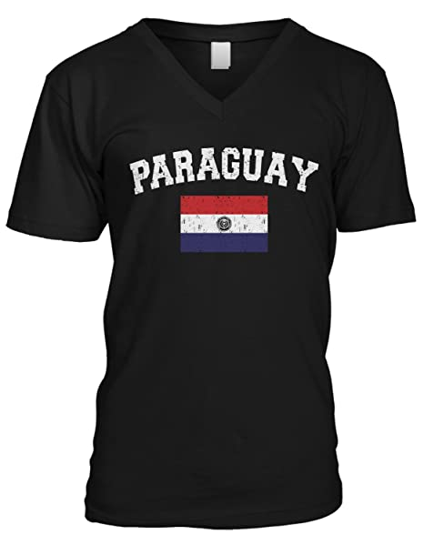 Paraguay text V-Neck T-Shirt