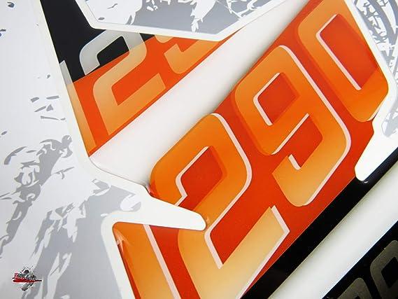 Color Naranja Protector de dep/ósito 3D para KTM-1290 Super Duke GT Bike-Label 502544 dise/ño de Rayas