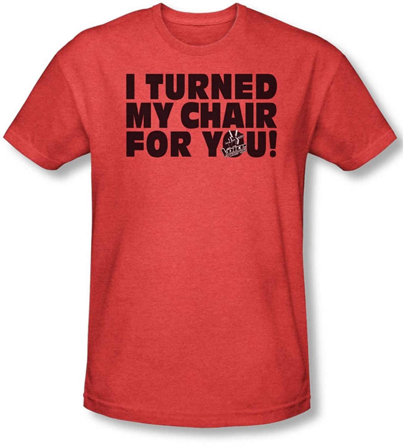 The Voice - Mens Turned My Chair T-Shirt In Red