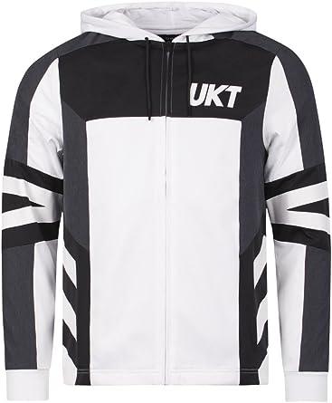 Unkut Sweat à capuche Jail Blanc: : Vêtements et