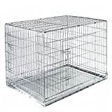 Cheap SmithBuilt Folding  Double Door Cage Metal Dog Crate, 48 in. Long with Divider
