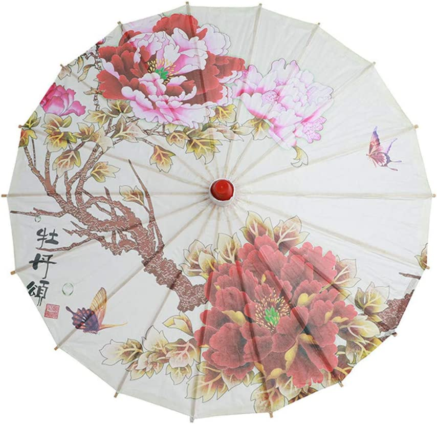 TM Chinesischer Schirm Y56 Wei/ße Farbe Papier Dekorative Regenschirm Papierschirm Sonnenschirm Hochzeit Braut Party Decor Foto Cosplay Prop 41cm, A papierschirm