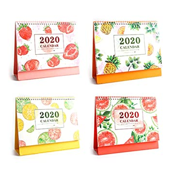 Amazon.com : Desk Calendar 2019-2020 Fruit Pattern - Runs ...