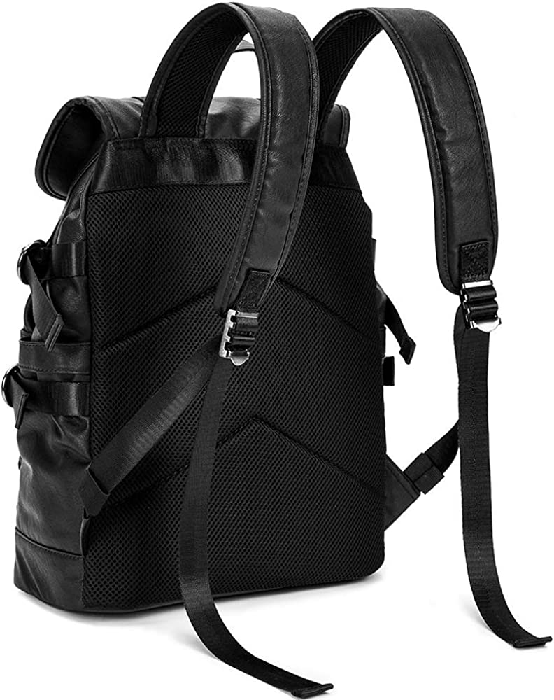 Tidog Korean version of the travel leather leisure student backpack