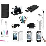 20 teiliges Apple iPhone SE Zubehör Set Paket | Schwarz | MEGAPACK