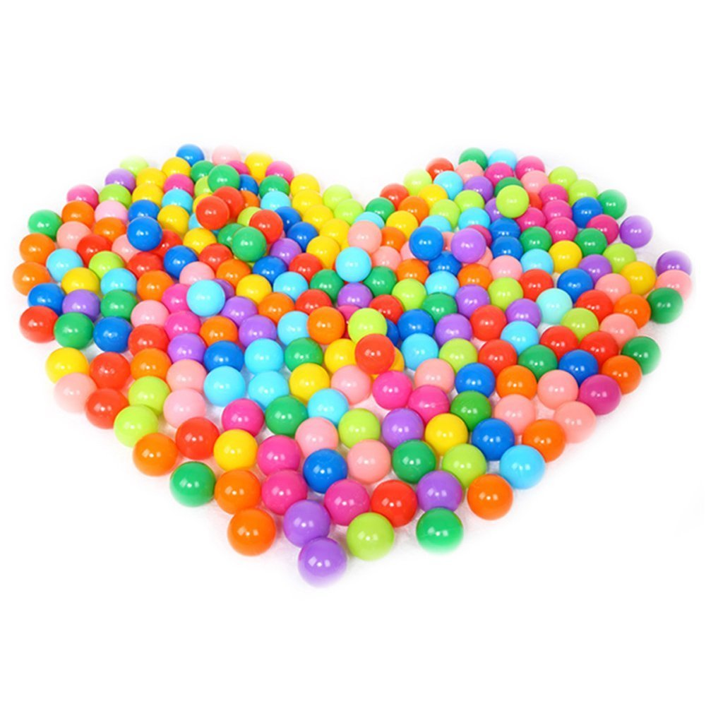 EocuSun Pack of 50 Pcs 2.5'' Colorful Phthalate Free PBA Free Crush Proof Plastic Ball Pit Balls for Kids, 8 Bright Colors in Reusable Mesh Storage Bag