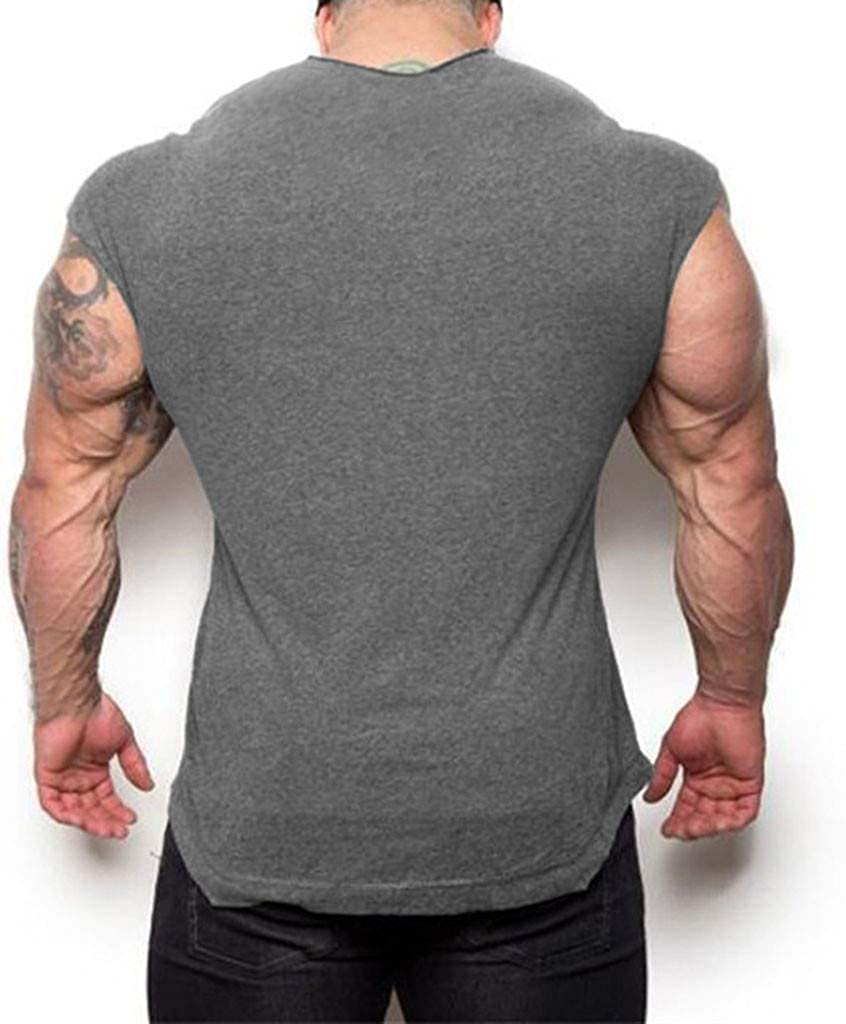 Danhjin Mens Tight-Fitting Fitness Casual Exercise Running Elastic Round Neck Training Short-Sleeved Bottoming Shirt