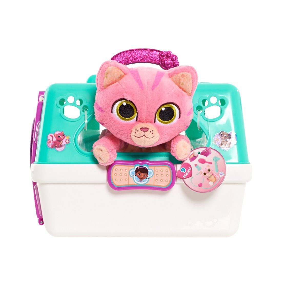 Just Play Doc McStuffins Pet Vet On The Go Pet Carrier Whispers Playset by Doc McStuffins