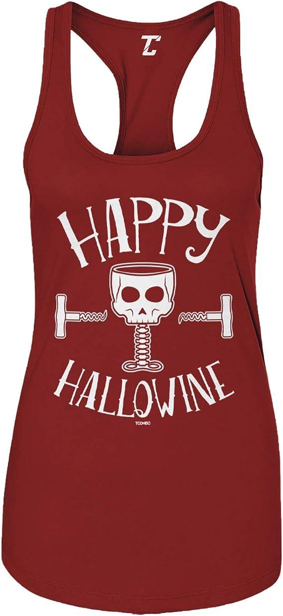 Happy Hallowine - Halloween Wine Skull Women's Tank Top