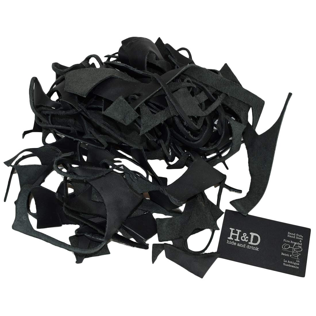 Amazon.com: Hide & Drink, Cow Leather Chips & Scraps, Trimming Pieces, Craft & Workshop (8 Ounce) : Charcoal Black