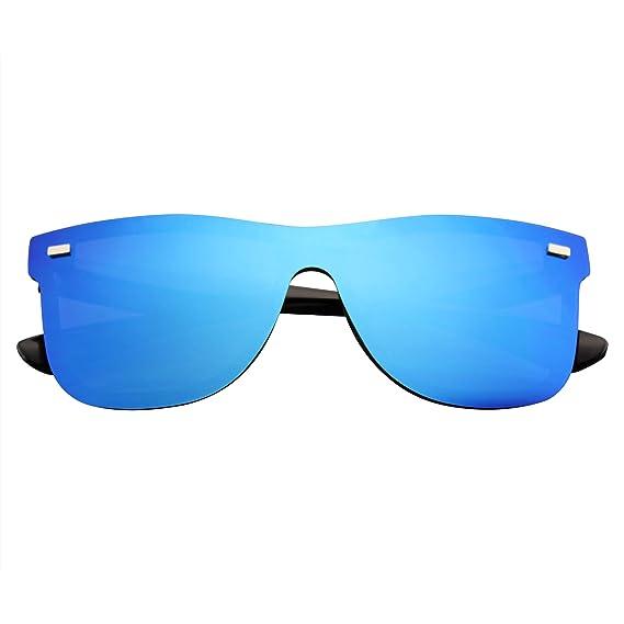 Emblem Eyewear - Gafas De Sol Retro Feflexivas De La Vendimia De La Lente Sin Color Del Espejo De Las Mujeres Para Hombre