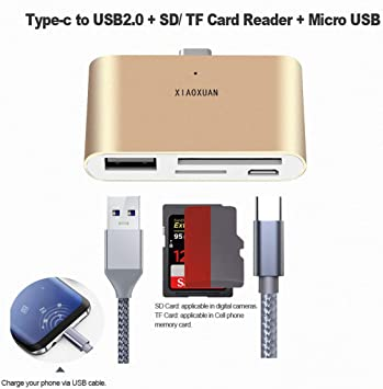 MMC Memory Card Reader Adapter for Android Phones USB 3.1 Type C USB-C to TF