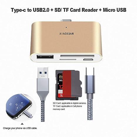 Tipo C lector de tarjetas, USB 3.1 Tipo C a USB 2.0 OTG tipo ...