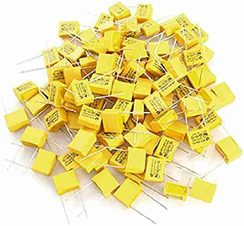 sourcing map Safety Capacitor Polypropylene Film 1uF 275VAC X2 MKP 15 Pcs