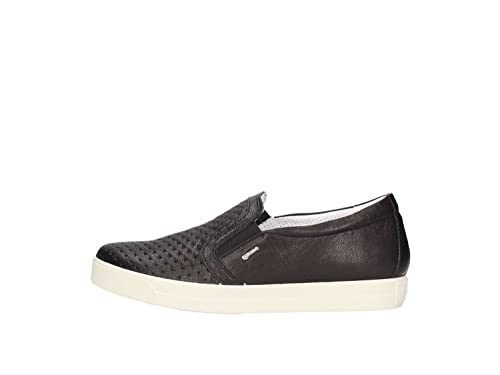CO Flat on Shoes Leather Sneakers IGI Moccasins in in Woman amp; Black Slip Made 1147300 5RwnAqU
