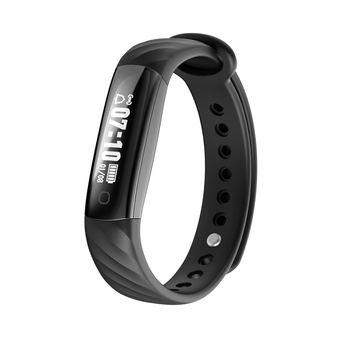Loping Fitness Tracker, Slim Waterproof Activity Tracker with Sleep Monitor, Pedometer Smart Bracelet Fitness Watch Wristband for iOS & Android Smartphone (Black)